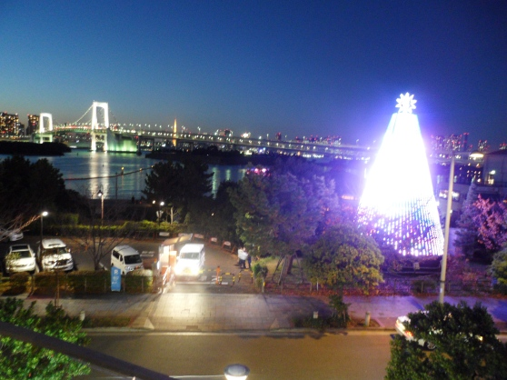 View of the Daiba Memorial Tree and Rainbow Bridge