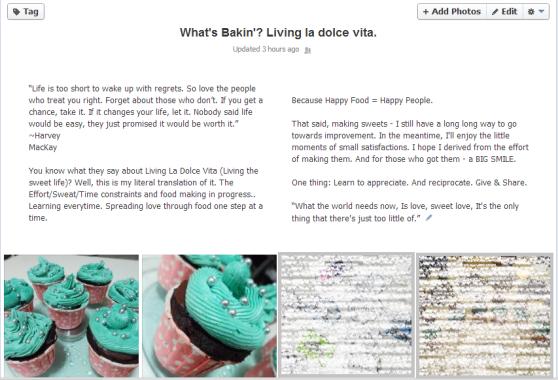 What's Bakin' Living la dolce vita