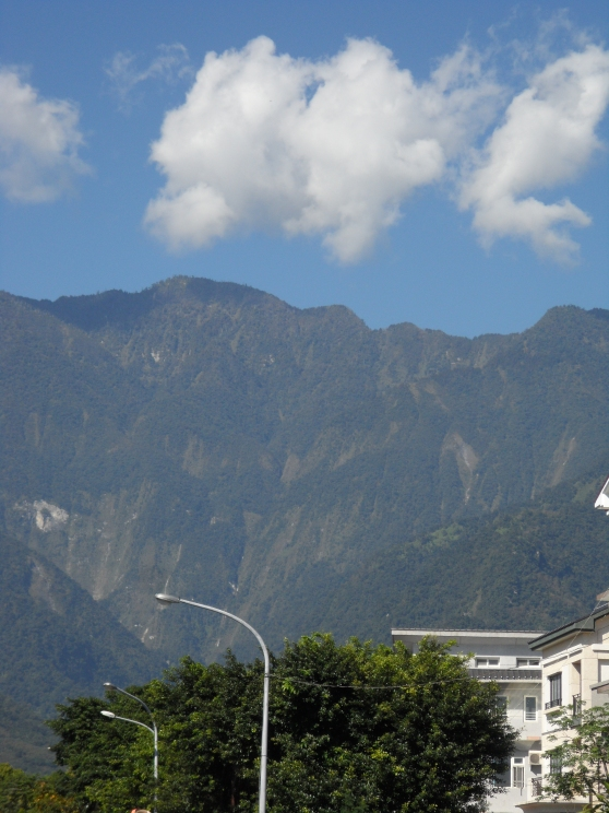 View of the Mountains from a  neighborhood in Hua Lien City, Taiwan.
