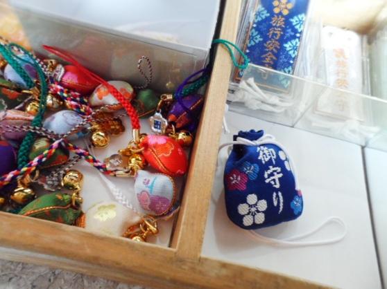 Plum Blossom themed charms at Yushima Tenjin