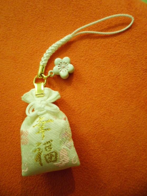Sakura themed charms at Yushima Tenjin