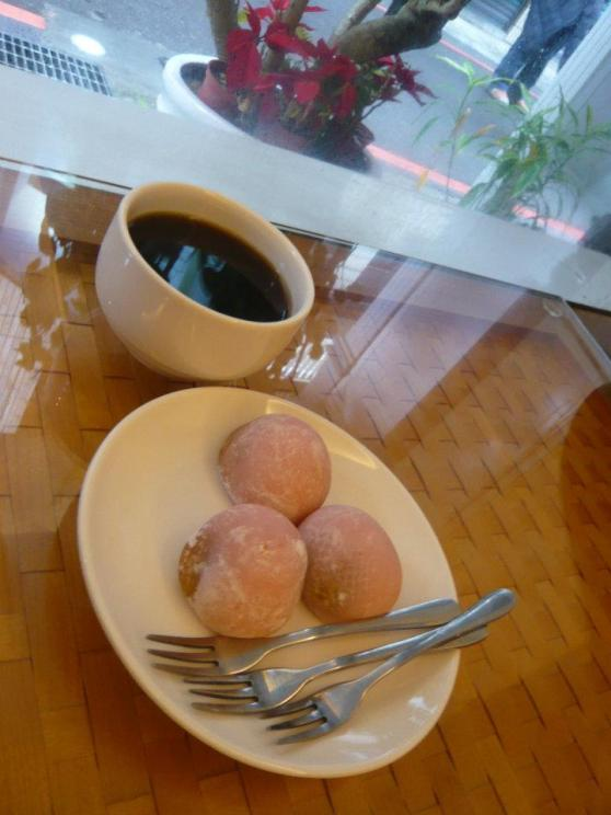 Ending the trip with really good stuffed Mochi and a cup of Ginger Tea to warm up the insides.