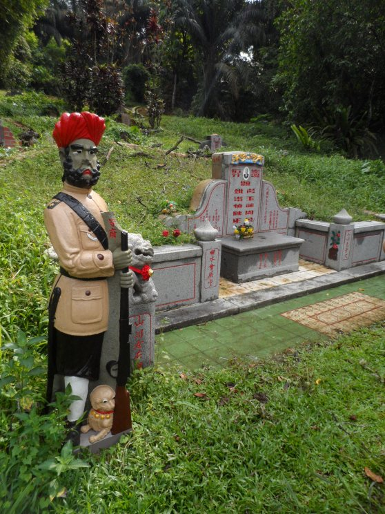 Sikh guard standing in attention at the grave of . In the past, the relationship between sikhs and the chinese closely linked with the business of protection.